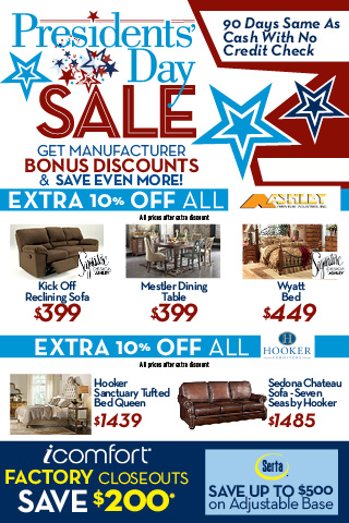 Woodstock furniture outlet brand name interiors at for Presidents day furniture sales